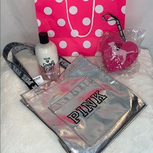 VS Pink Tote Bag Set